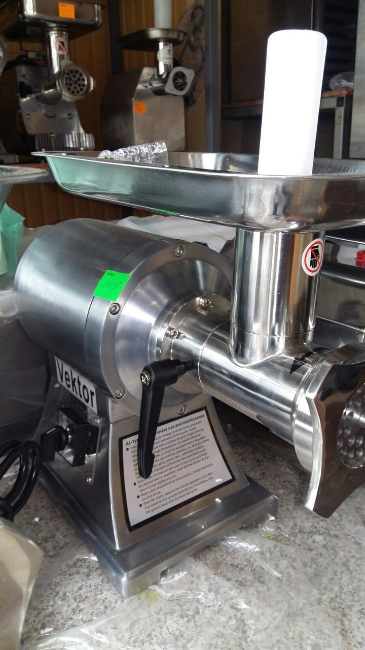Мясорубка промышленная  Vektor  AL-12C Реверс, съемная голова. 150 кг/час