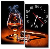 Декоративные настенные часы модульные на кухню Достаток 30х56 30х56 см,  оригинальный подарок для дома