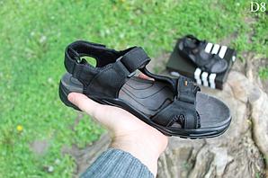 Чоловічі сандалі Adidas на літо (чорно-помаранчеві) D8