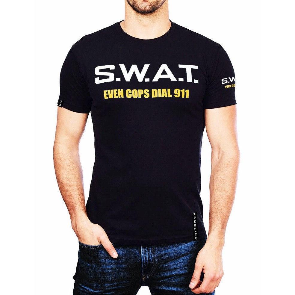 """Футболка """"S.W.A.T."""" BLACK М. L. XL"""