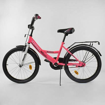 Подростковый велосипед 2-х колёсный CORSO, 20 дюймов, Розовый (CL-20 Y 6009)
