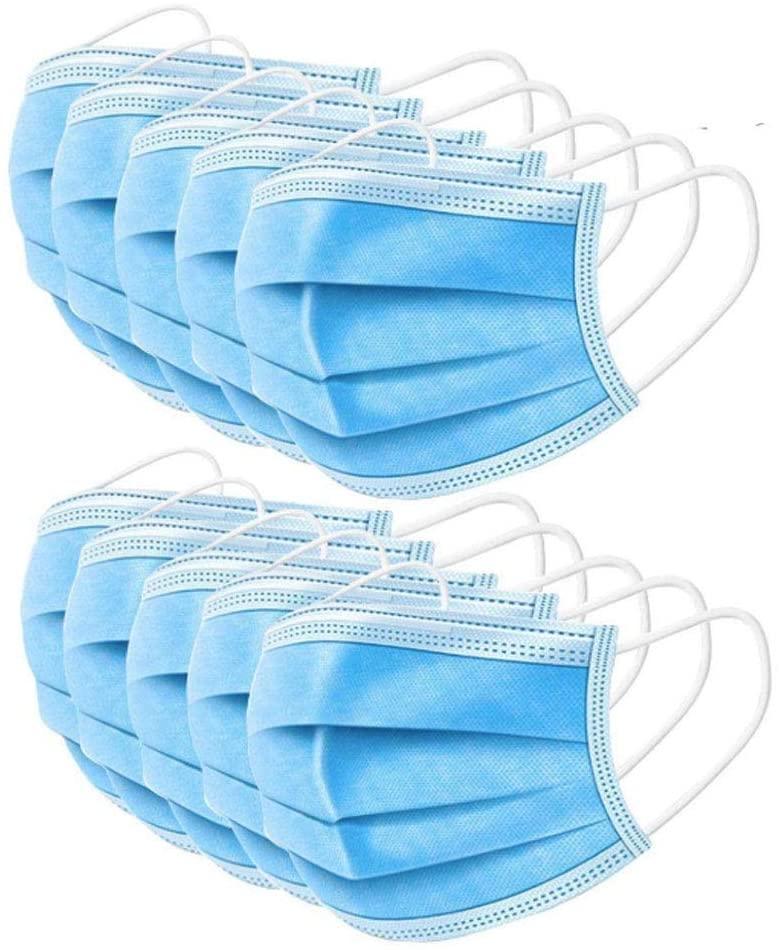 Захисна Одноразова Маска 3-кульова для Особи Набір 100 шт Блакитний колір
