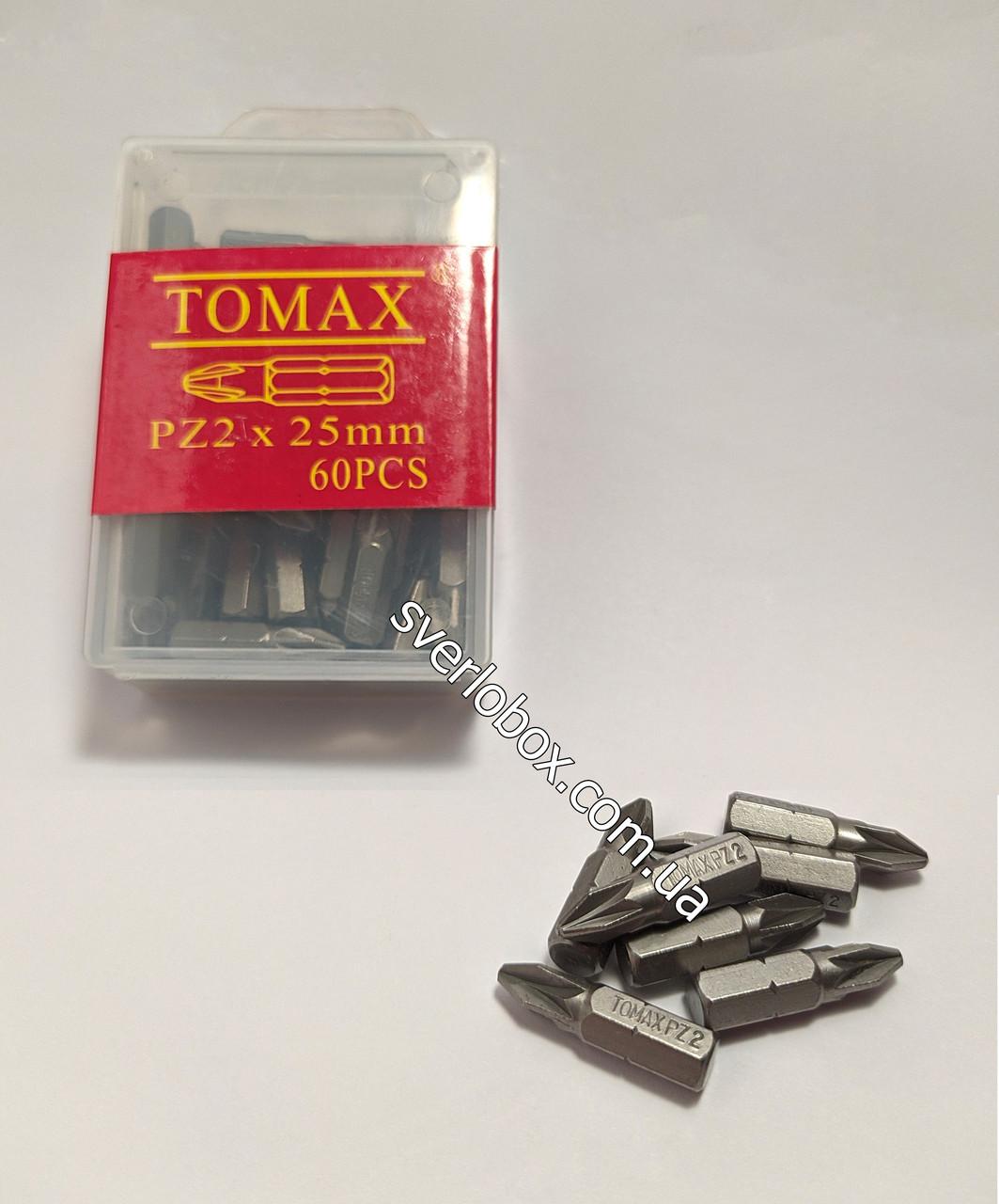 Бита для шуруповерта TOMAX PZ2 - 25мм
