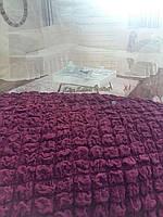 Чехол на диван-уголок + кресло Фиолетовый