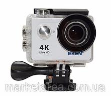 "Экшн камера экен 4К с дисплеем 2"" и поддержанием блютуза, белая EKEN H9 4K white"