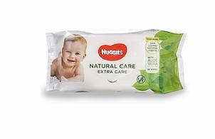 Влажные салфетки Huggies (Хаггис) Natural Care Extra Care 56 шт