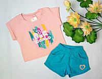 Літній костюм футболка з шортами для дівчинки ТМ Бембі