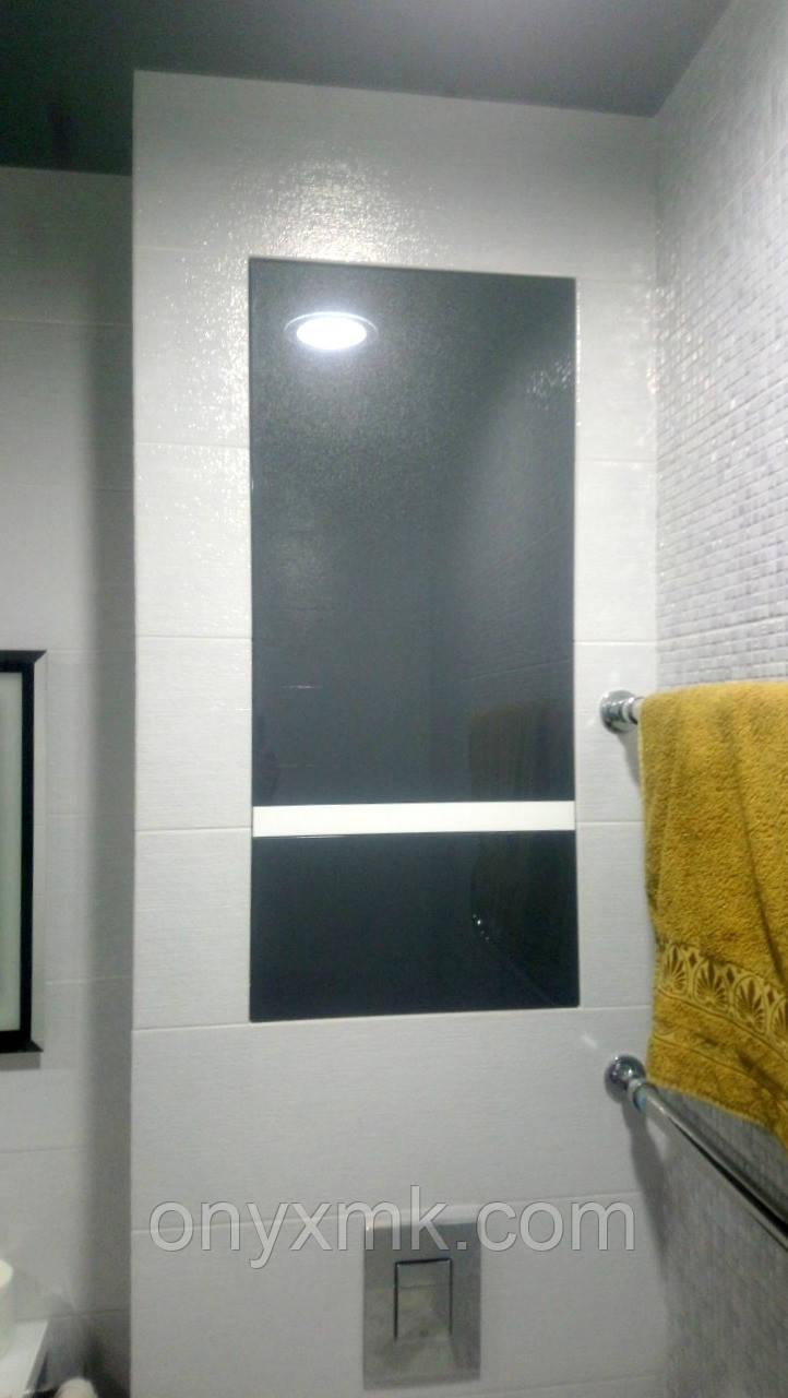 Ниша под коммуникации в ванной комнате