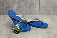 Мужские шлепанцы резиновые летние синие Rider 10594 -22101 Strike