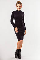 Черное платье с воротником под горло, фото 1
