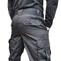 """Брюки тактические """"POLICE"""" BLACK с ремнём 5 см., фото 3"""