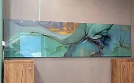 Стеклянные панели с абстрактным изображением камня 1
