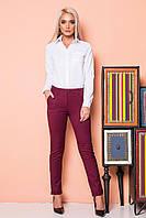 Бордовые брюки с 2 карманами, фото 1
