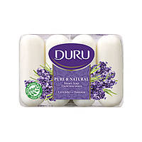 "Туалетное мыло ""Лаванда"" Duru Pure & Natural Beauty Soap Levender 4х85 г"