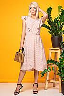 Розовое платье без рукавов с асимметричным низом, фото 1