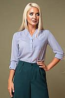 Серая блузка с V-образным вырезом, фото 1