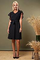 Черное платье с рукавами из мягкого фатина, фото 1