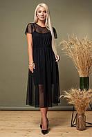 Черное платье из сетки, фото 1