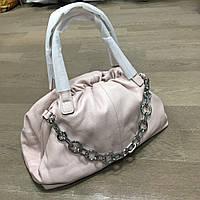 Женская пудровая сумочка из натуральной кожи (A9143/Pink)