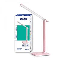 Настольная лампа светодиодная розовая Feron DE1725 9W 6400К (3 уровня яркости)