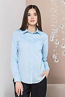 Голубая рубашка с 1 карманом, фото 1