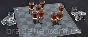 Стеклянные шахматы с рюмками 086M алкогольная игра