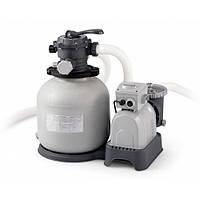 Песочный фильтр-насос Intex 26648 механическая очистка воды в бассейне