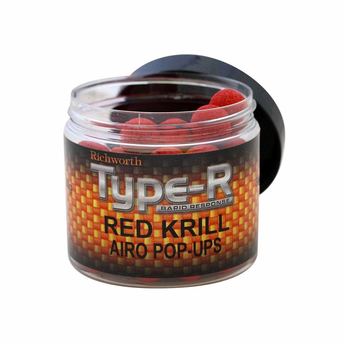 Плавающие бойлы Richworth Type-R Red Krill Pop Ups 15mm 200ml