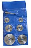 Набор пильных дисков отрезных 6шт и держатель для граверов и бормашинок, фото 2