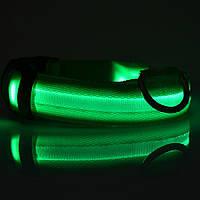 LED ошейник для собак, зеленый