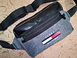 Новый стиль 2020 Сумка на пояс TOMMY HILFIGE мессенджер с кожаным/Спортивные барсетки сумка бананка только опт, фото 2