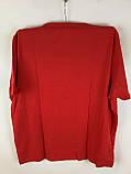 Чоловіча футболка великого розміру червона, фото 3