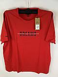 Чоловіча футболка великого розміру червона, фото 5