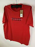 Чоловіча футболка великого розміру червона, фото 2
