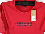 Чоловіча футболка великого розміру червона, фото 7