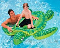 Детский надувной плотик для катания «Черепаха», Intex 57524, 150 х 127 см