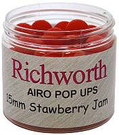 Плавающие бойлы Richworth Strawberry Jam Pop Ups (клубника) 15mm 200ml