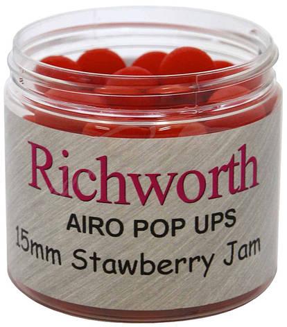 Плавающие бойлы Richworth Strawberry Jam Pop Ups (клубника) 15mm 200ml, фото 2