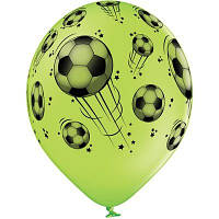 """Латексные шары Belbal пастель мячи футбольные 14"""" 36 см, 5 шт"""