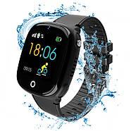 Детские смарт- часы телефон JETIX DF50 Light Edition с GPS трекером и влагозащитой Original (Black), фото 3