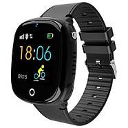Детские смарт- часы телефон JETIX DF50 Light Edition с GPS трекером и влагозащитой Original (Black), фото 2