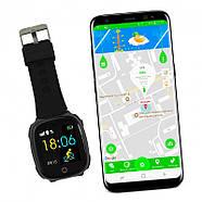 Детские смарт- часы телефон JETIX DF50 Light Edition с GPS трекером и влагозащитой Original (Black), фото 4
