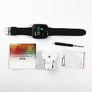 Детские смарт- часы телефон JETIX DF50 Light Edition с GPS трекером и влагозащитой Original (Black), фото 5