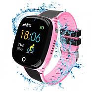 Детские смарт- часы телефон JETIX DF50 Light Edition с GPS трекером и влагозащитой Original (Pink), фото 3