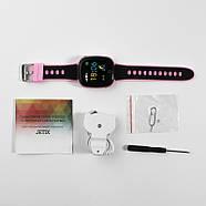 Детские смарт- часы телефон JETIX DF50 Light Edition с GPS трекером и влагозащитой Original (Pink), фото 5
