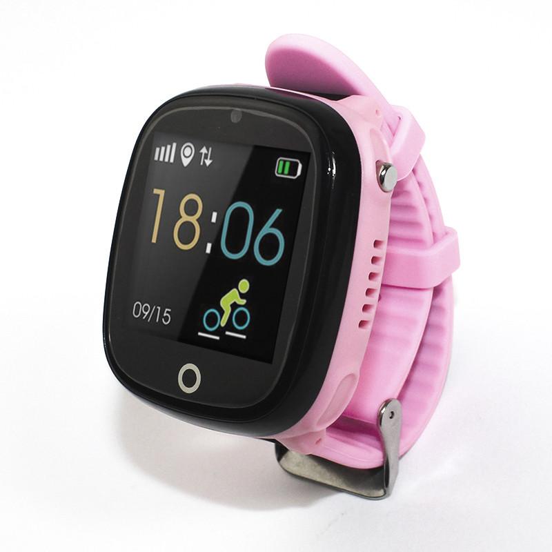 Детские смарт- часы телефон JETIX DF50 Light Edition с GPS трекером и влагозащитой Original (Pink)