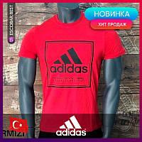 Мужские футболки Adidas красная. Чоловічі футболки Adidas червона.