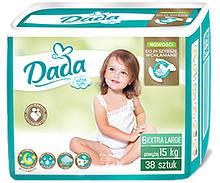 Памперсы подгузники Дада Extra Soft Dada 6 EXTRA LARGE 38 шт. 15+ кг