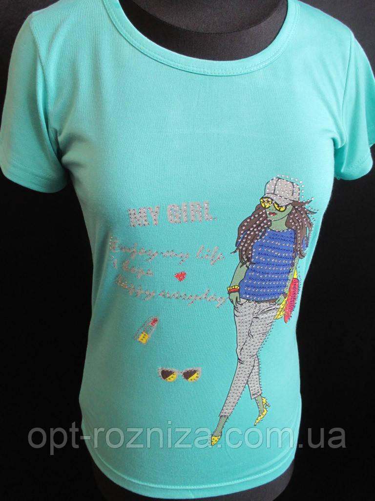 Трикотажные футболки с рисунком