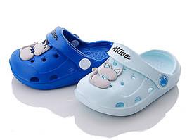 Детские кроксы, сабо   SHIANG , размеры  19,  22 (голубой)